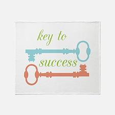 Key To Success Throw Blanket
