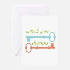 Unlock Dreams Greeting Cards
