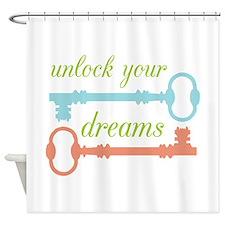 Unlock Dreams Shower Curtain