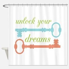 Unlock Dreams Shower Curtain