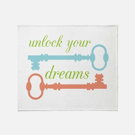Unlock Dreams Throw Blanket