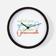 Unlock Dreams Wall Clock