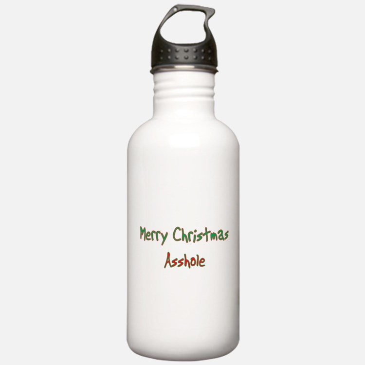 Merry Christmas Asshole Water Bottle