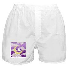 Moon Bunny Purple Boxer Shorts