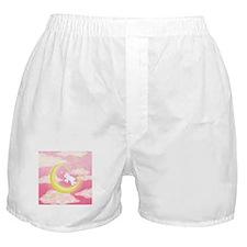 Moon Bunny Pink Boxer Shorts