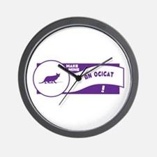 Make Ocicat Wall Clock