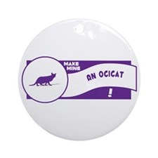 Make Ocicat Ornament (Round)