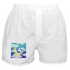 Moon Bunny Blue Boxer Shorts