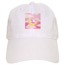 Moon Bunny Pink Baseball Cap
