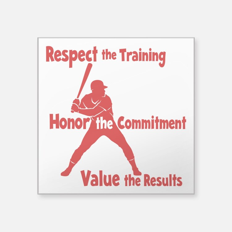"VALUE BASEBALL Square Sticker 3"" x 3"""