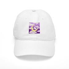 Moon Bunny Purple Baseball Cap
