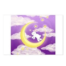 Moon Bunny Purple Postcards (Package of 8)