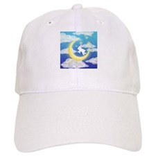Moon Bunny Blue Baseball Cap