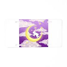 Moon Bunny Purple Aluminum License Plate
