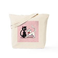 Kitty Flower Tote Bag