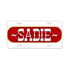 sadie-country.png Aluminum License Plate