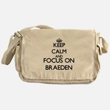 Keep Calm and Focus on Braeden Messenger Bag