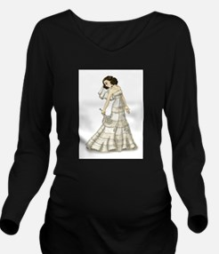 Lace Bride Long Sleeve Maternity T-Shirt