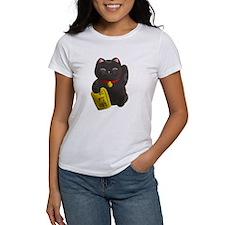 Lucky Cat Black T-Shirt