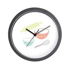 Baking Utensils Wall Clock