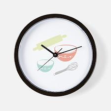 Baking Utensils Wall Clock