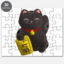 Lucky Cat Black Puzzle