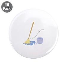 "A Clean Floor 3.5"" Button (10 pack)"