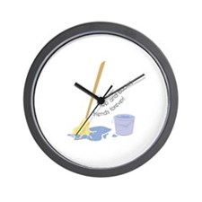 Mop And Bucket Wall Clock