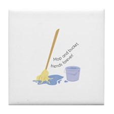 Mop And Bucket Tile Coaster