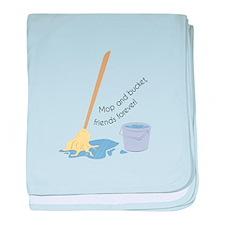 Mop And Bucket baby blanket