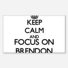 Keep Calm and Focus on Brendon Decal