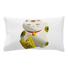 Lucky Cat White Pillow Case