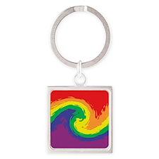Rainbow Swirl Keychains