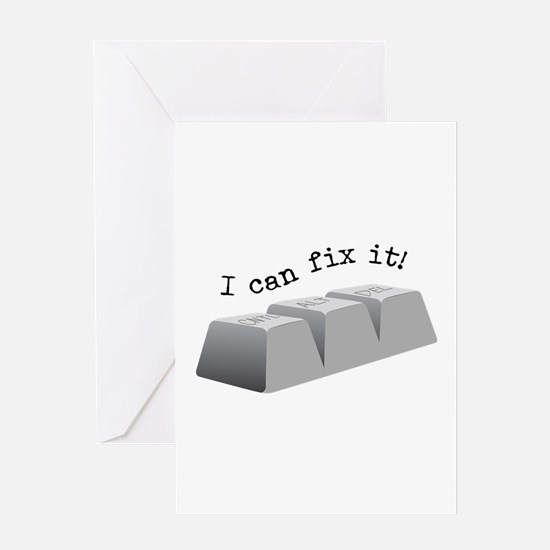 Can Fix It Greeting Cards