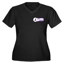Make Mau Women's Plus Size V-Neck Dark T-Shirt