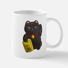 Lucky Cat Black Mugs