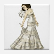 Lace Bride Tile Coaster