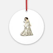 Lace Bride Ornament (Round)
