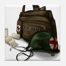 Army Medic Tile Coaster