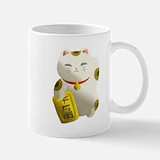 Lucky Cat White Mugs