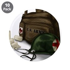 """Army Medic 3.5"""" Button (10 pack)"""