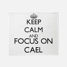 Keep Calm and Focus on Cael Throw Blanket