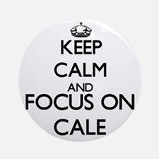 Keep Calm and Focus on Cale Ornament (Round)