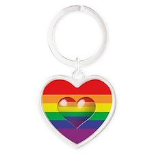Rainbow Heart Keychains