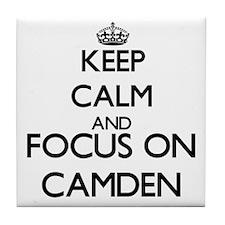 Keep Calm and Focus on Camden Tile Coaster