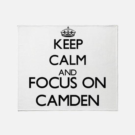 Keep Calm and Focus on Camden Throw Blanket