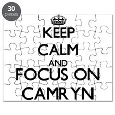 Keep Calm and Focus on Camryn Puzzle
