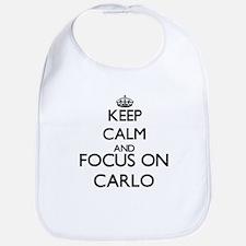 Keep Calm and Focus on Carlo Bib