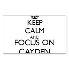 Keep Calm and Focus on Cayden Decal