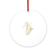 Ice Skate Ornament (Round)